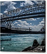 Canadian Tranfer Under Blue Water Bridges Acrylic Print