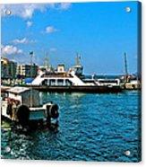 Canakkale Ferry Dock-turkey Acrylic Print