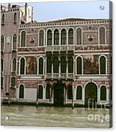Canal Architecture Acrylic Print