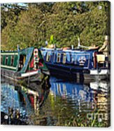 Canal Boats Passing Acrylic Print