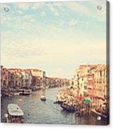Canal Grande In Venezia Acrylic Print