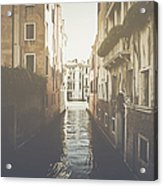 Canal In Venice Italy Applying Retro Instagram Style Filter Acrylic Print