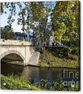 Canal Near Freedom Monument Riga Acrylic Print