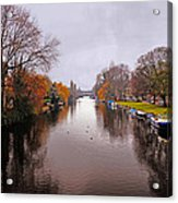Canal Of Amsterdam Acrylic Print