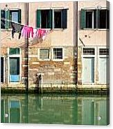Canal Reflections Acrylic Print