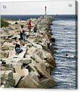 Canal Swim Risky Behavior Acrylic Print