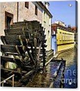 Canal Waterwheel Acrylic Print