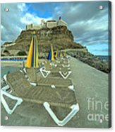 Canarian Loungers  Acrylic Print