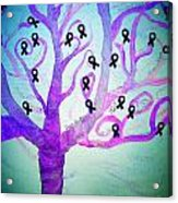 Cancer Survivors' Tree Acrylic Print by Jackie Bodnar