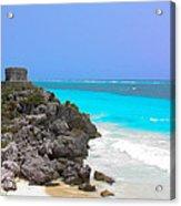 Cancun Ocean Front Acrylic Print