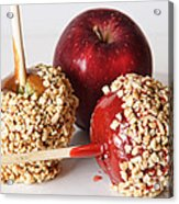 Candied Caramel And Regular Red Apple Acrylic Print