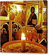 Candle And Icons Acrylic Print