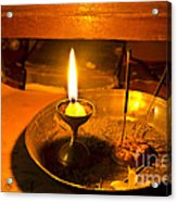 Candle And Incense Sticks Acrylic Print