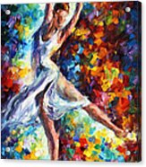 Candle Fire - Palette Knife Oil Painting On Canvas By Leonid Afremov Acrylic Print