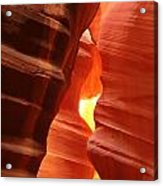 Candle Flame At Antelope Canyon Acrylic Print
