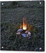 Candle Glow Acrylic Print