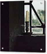 Candle In The Window Acrylic Print