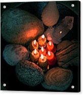 Candle Meet Acrylic Print