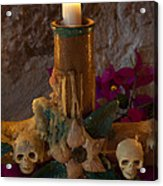 Candle On Day Of Dead Altar Acrylic Print
