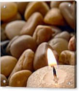 Candle On The Rocks Acrylic Print