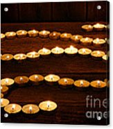 Candle Path Acrylic Print by Olivier Le Queinec