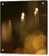 Candles At A Window Acrylic Print