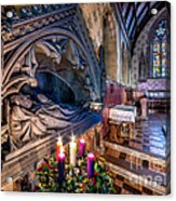 Candles At Christmas Acrylic Print by Adrian Evans