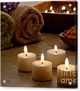 Candles In A Spa Acrylic Print