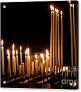 Candles In Church Acrylic Print