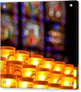 Candles In Notre Dame Acrylic Print