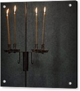 Candles In The Dark Acrylic Print