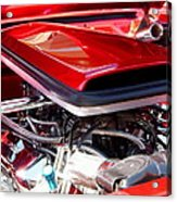 Candy Apple Red Horsepower - Ford Racing Engine Acrylic Print