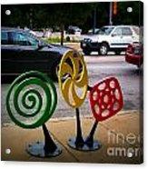 Candy Bike Rack In Lomoish Acrylic Print