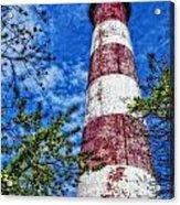 Candy Cane Lighthouse Acrylic Print