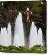 Candy Cane Water Fountain Acrylic Print