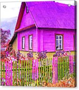 Candy Cottage - Featured In Comfortable Art Group Acrylic Print