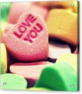 Candy Hearts Acrylic Print