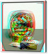 Candy Jar - Use Red-cyan Filtered 3d Glasses Acrylic Print