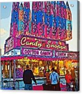 Candy Shoppe Line Art Acrylic Print