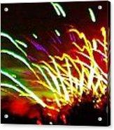 Candy Stripe Fireworks Acrylic Print