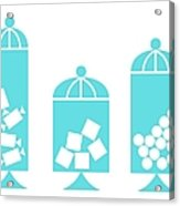 Canisters In Turquoise Acrylic Print