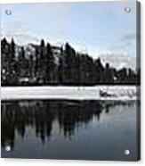 Winter Mountain Calm - Canmore, Alberta Acrylic Print