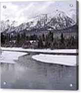 Canmore Winter Acrylic Print