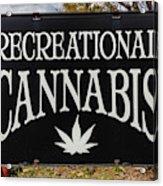 Cannabis Marijuana Store In Ridgway Acrylic Print
