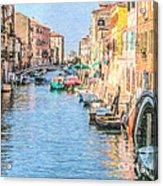 Cannareggio Canal Venice Acrylic Print