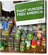 Canned Goods For Food Banks Acrylic Print