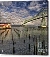 Cannery Pier Hotel And Astoria Bridge Acrylic Print