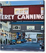 Cannery Row Area At Dawn, Monterey Acrylic Print
