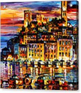 Cannes-france - Palette Knlfe Oil Painting On Canvas By Leonid Afremov Acrylic Print