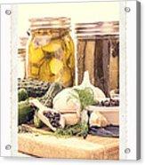 Canning Kitchen Art Acrylic Print